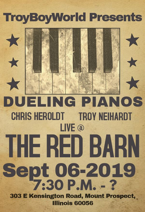 Troy Boy and his Dueling Pianos – 9/6