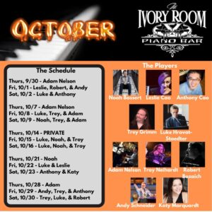 Dueling Pianos at Ivory Room Madison – 10-15/16
